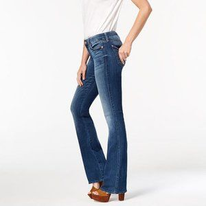 7FAM Low Rise Skinny Flared Jeans